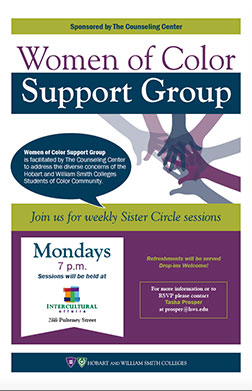 Women of Color Support Group Poster