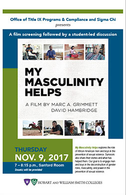 My Masculinity Helps Poster