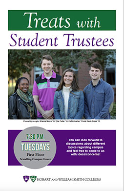 Treats with Student Trustees Poster