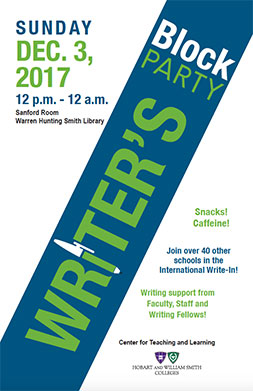 Writer's Block Party Poster