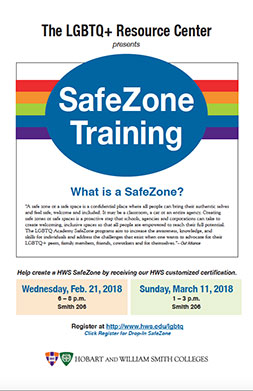 Safe Zone Training Poster