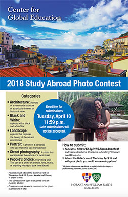 Study Abroad Photo Contest Poster