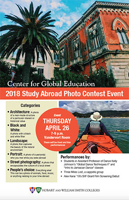 Study Abroad Event Poster