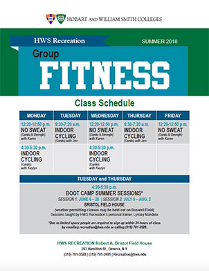 Fitness Classes Poster
