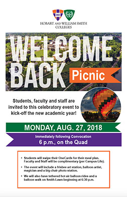 Welcome Picnic Poster