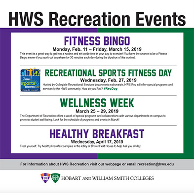 Recreation Events Poster