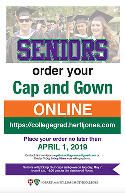 Cap and Gown Order Poster