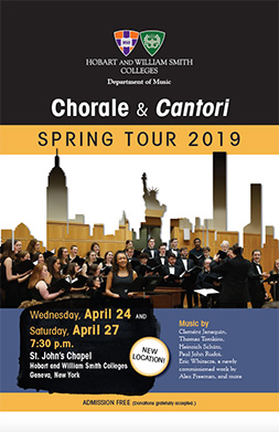 Chorale and Cantori Poster