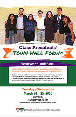 Presidents Town Hall Poster