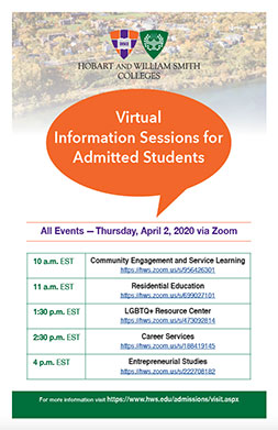Admissions Virtual Poster