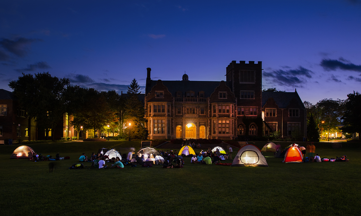 POAP camps out on the quad.