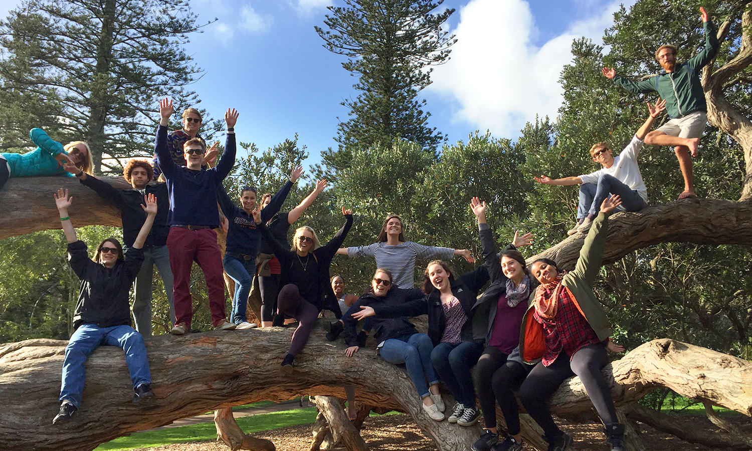 Associate Professor of Art and Architecture Kirin Makker snapped this photo of HWS students studying abroad in New Zealand.