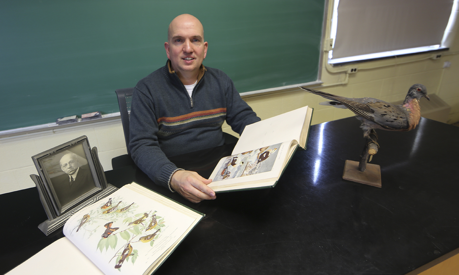 Deutschlander with bird collection in Eaton Hall