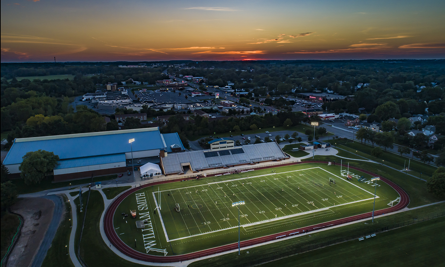Boswell Sunset Drone