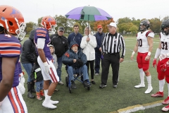 Hobart Football vs RPI Coin Toss<br>Photos by K.  Colton