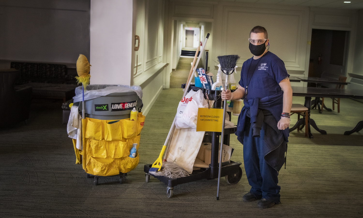 Project Housekeeping,  KColton, Tommy Cook, been here 30 years, Started when he was 16 years old, Comstock