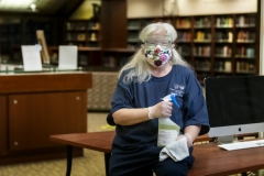 Project Housekeeping,  KColton, Wendy Newkirk, been here 10 years, Library