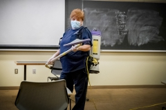 Project Housekeeping,  KColton, Kandy Ray, been here 10 years, Stern Hall