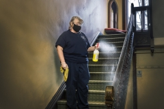 Project Housekeeping,  KColton, Michelle Driscoll, been here 18 years, Blackwell House