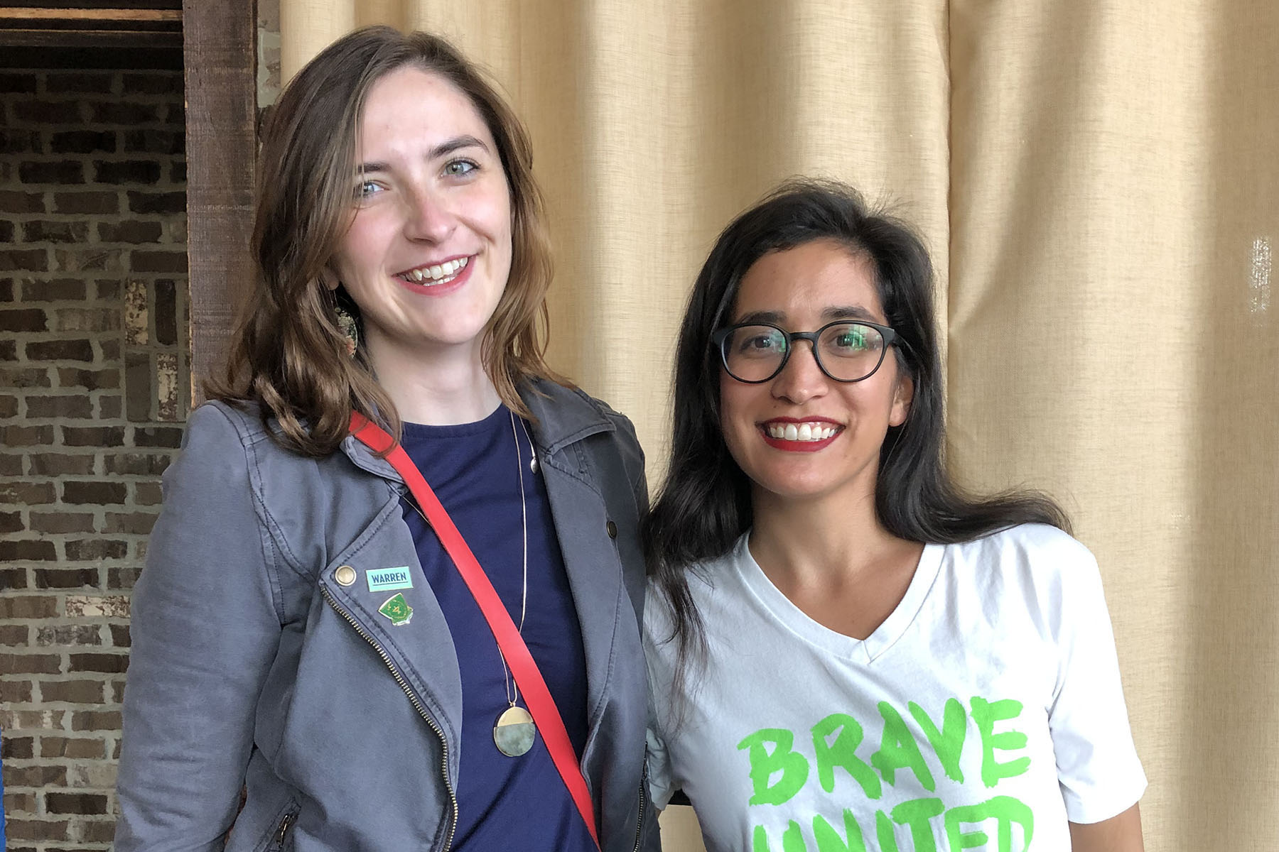 Molly Doris-Pierce '15 and Morgan Hopkins '10 met up in Houston, TX for an All* Above All Action Fund Panel, featuring reproductive rights justice leaders. Molly is the Women's Outreach Director for the Warren 2020 Campaign.
