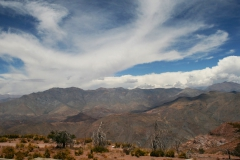 A view of the Andes Mountains taken during the winter break trip to Chile.