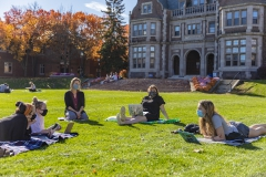 Julie Kingery Class Outside<br> Photos by Adam Farid '20