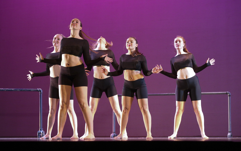 "Choreographed by: Sophie HalterMusic: ""Black and Gold"" by Sam SparroCast: Zoe Bradley, Liza Buell, Sophie Halter, Emily Knipper, and Gwen Major-Williams"
