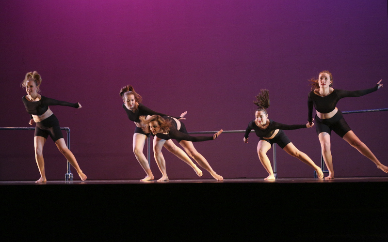 Choreographed by: Sophie HalterMusic: âBlack and Goldâ by Sam SparroCast: Zoe Bradley, Liza Buell, Sophie Halter, Emily Knipper, and Gwen Major-Williams