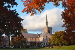 Demarest Hall on a beautiful autumn afternoon.