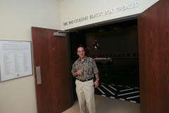 The Black box theater at the Geneva Community Center was renamed after Hobart William Smith Professor Pat Collins.