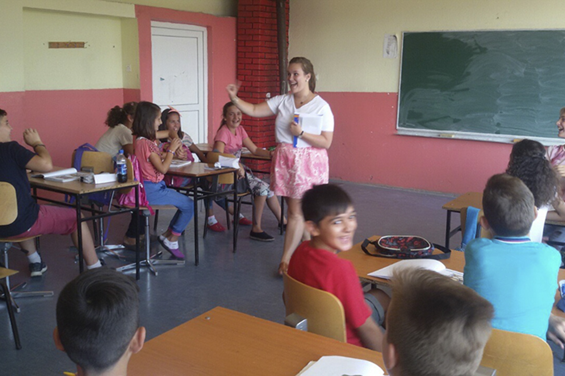 Emily Surprenant '15 teaches in Kosovo. Surprenant taught English to ninth graders.