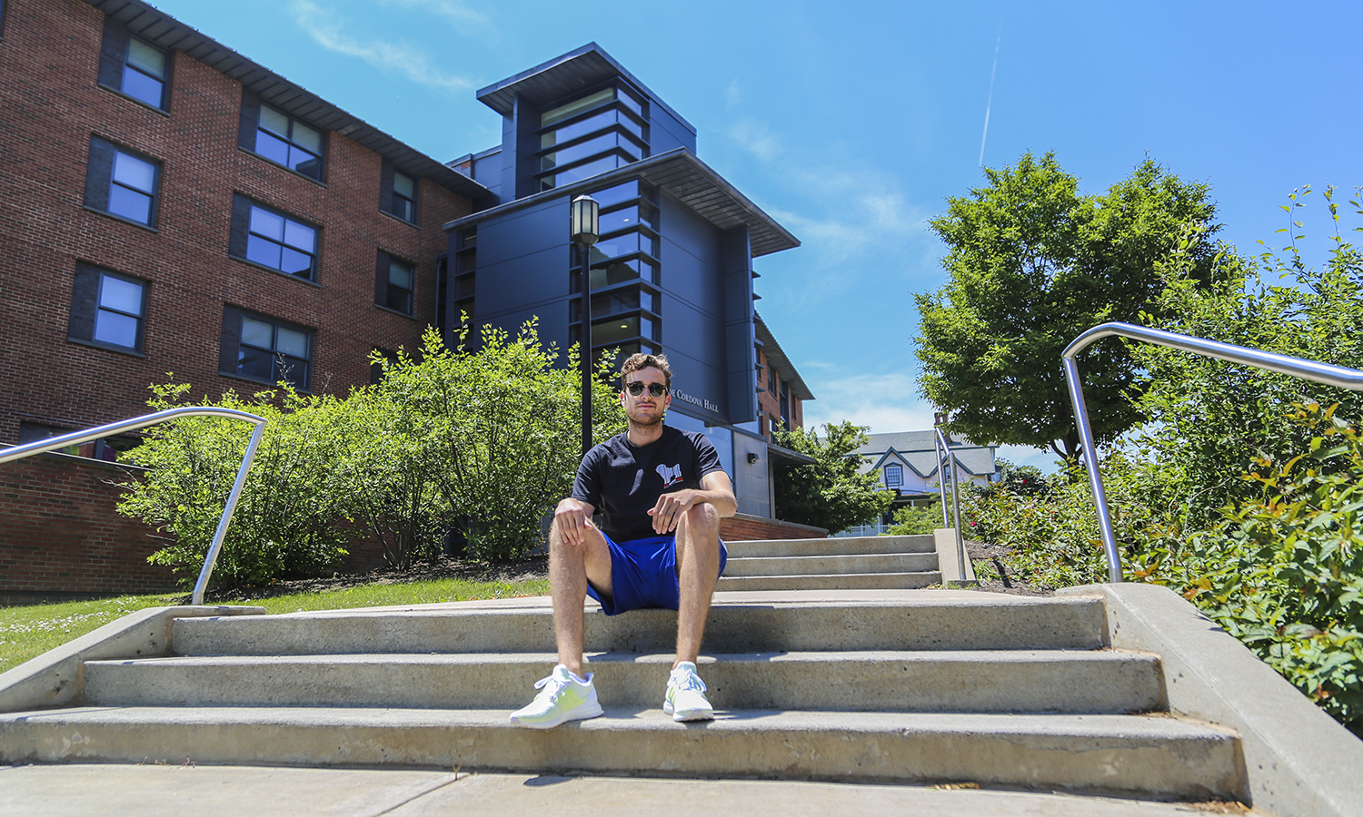 Harrison Demara, Pitch semi-finalist, is staying on campus this summer participting in the Summer Sandbox Idea Accelerator lead by Ed Bizari, the Margiloff Family Entrepreneurial Fellow. His favourite place on campus is the steps leading to DeCordova.