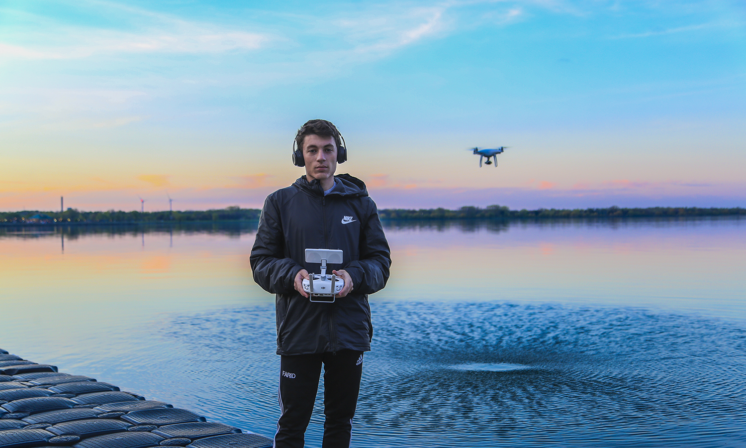 Adam Farid '20 enjoys flying his drone on and around campus and getting aerial shots for his job this summer in the Office of Communications. His favourite place to fly the drone is over Seneca Lake.