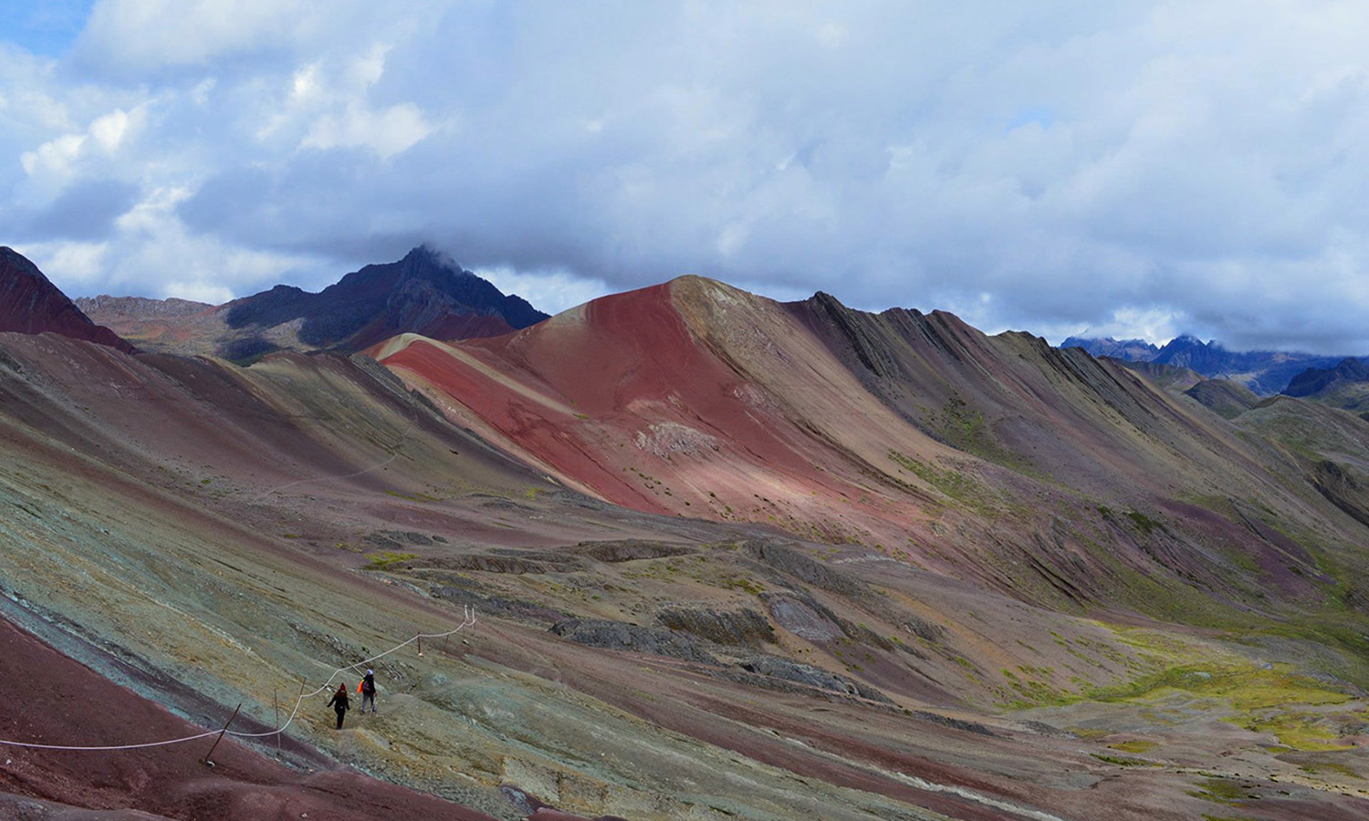"""Tied for first place in the """"Landscape"""" category in this year's study abroad photo contest, Elizabeth Anderson '18 climbed 16,300 feet above sea level for this shot from the top of Rainbow Mountain."""