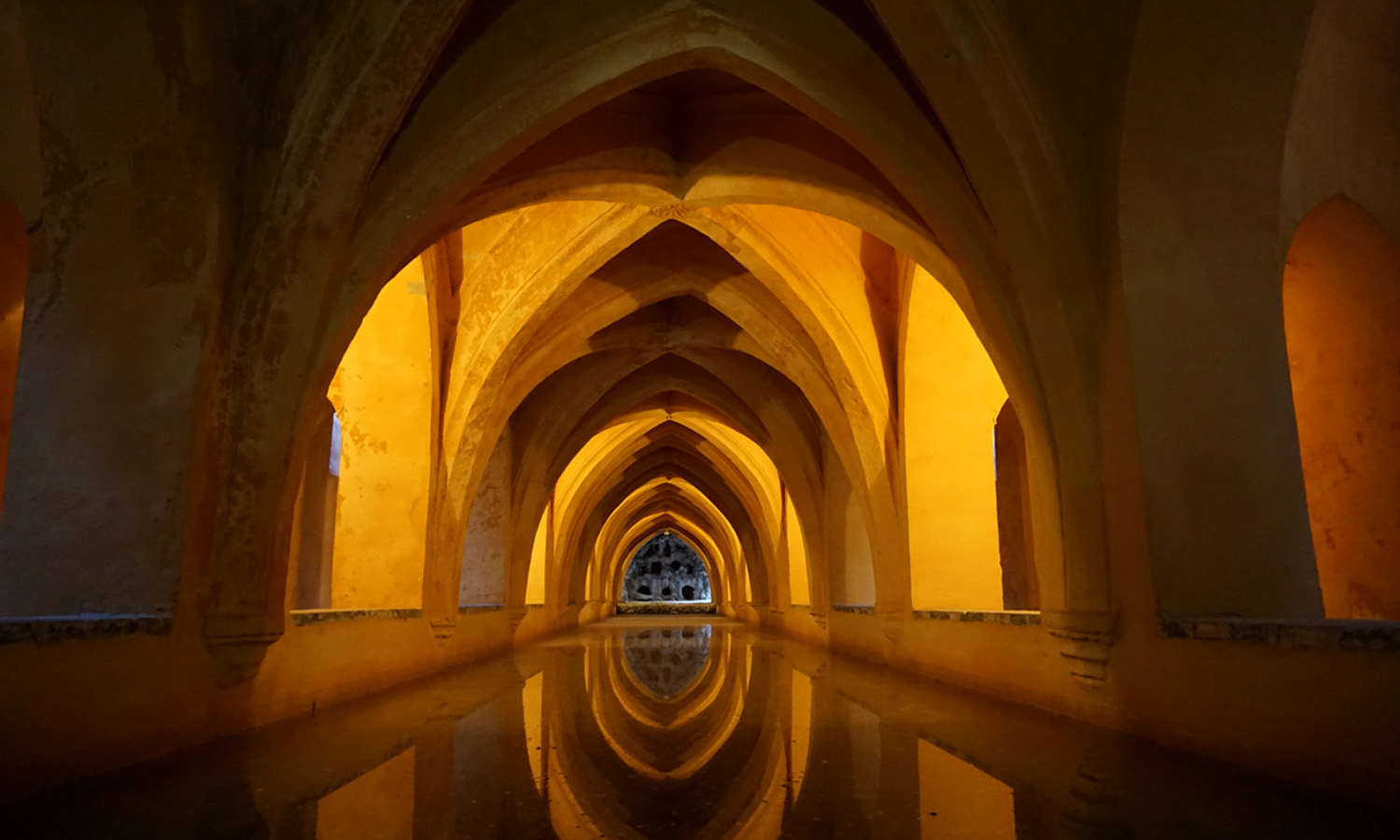 """Winner of the """"Best In Show"""" category in this year's study abroad photo contest, Nagina Ahmadi â20 photographs the beauty of the Baños de Doña María de Padillaâ in La Alcazar in Seville."""
