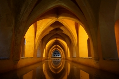 """Winner of the """"Best In Show"""" category in this year's study abroad photo contest, Nagina Ahmadi '20 photographs the beauty of the Baños de Doña María de Padilla in La Alcazar in Seville."""