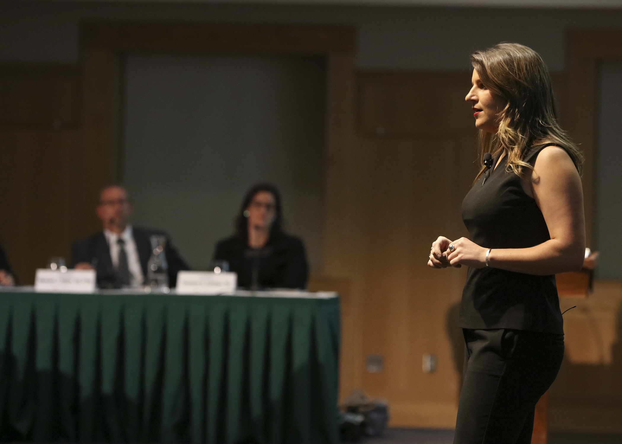 "Maura Moran '18 pitches ""Frontier Financial"", a budgeting tool for young professionals who are building a foundation for financial independence."