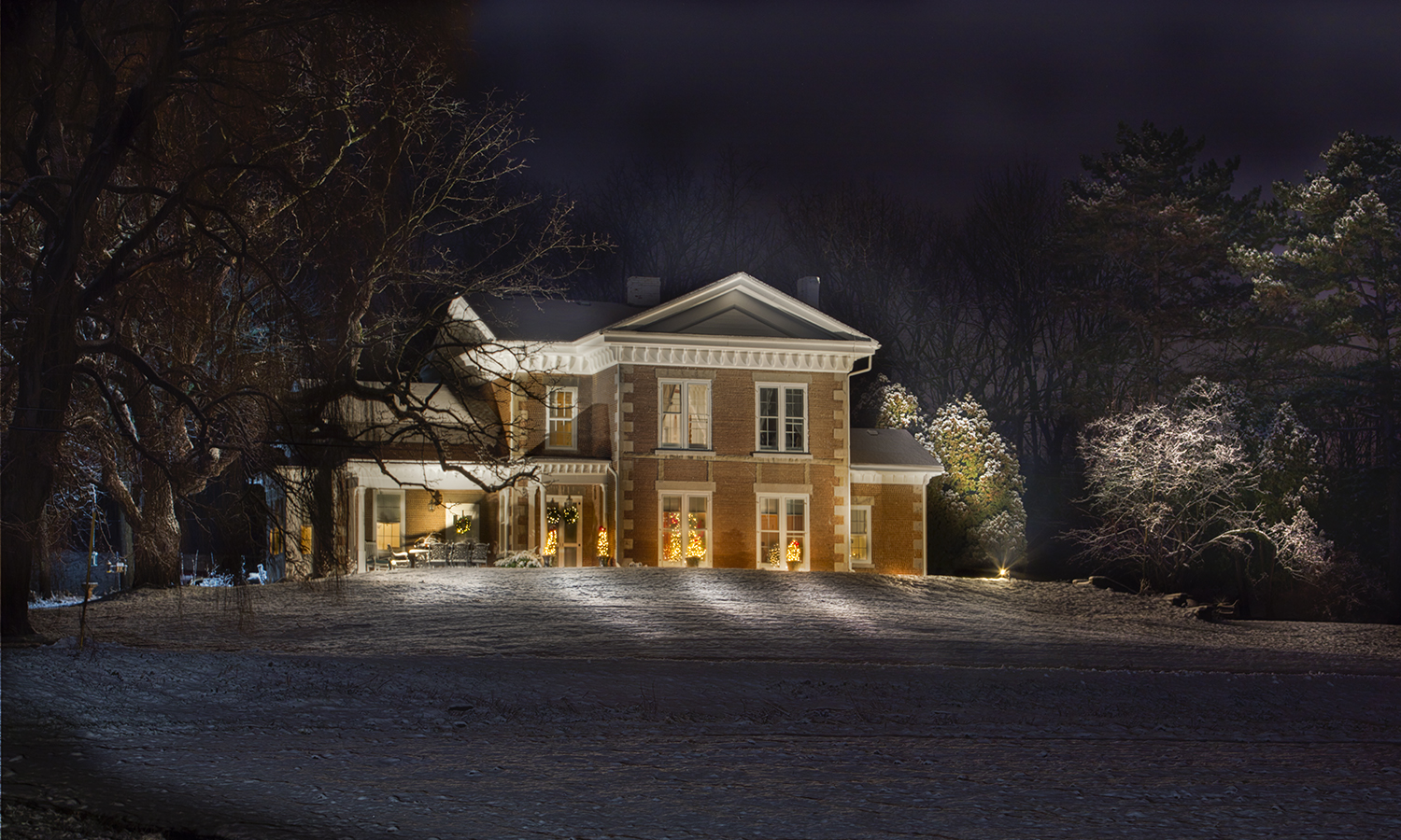For This Week in Photos, were are showcasing the captivating beauty of winter in the Finger Lakes through a selection of works by HWS Chief Photographer Kevin Colton, who in 2017 earned best photographer in higher education with a Gold Award from the Council for the Advancement and Support of Education. Here a cobblestone home on Route 14 stands illuminated in the snow.