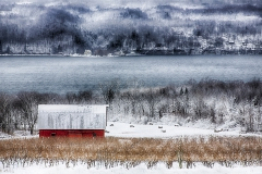 A wintry scene in the heart of the Finger Lakes.