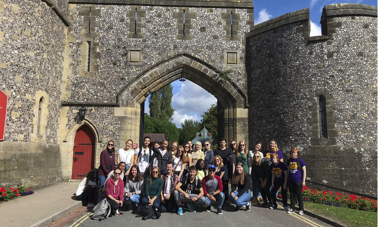 Students studying abroad at the University of Chichester in West Sussex, England, enjoy a day trip to Arundel Castle, a restored and remodeled medieval castle established in 1067.