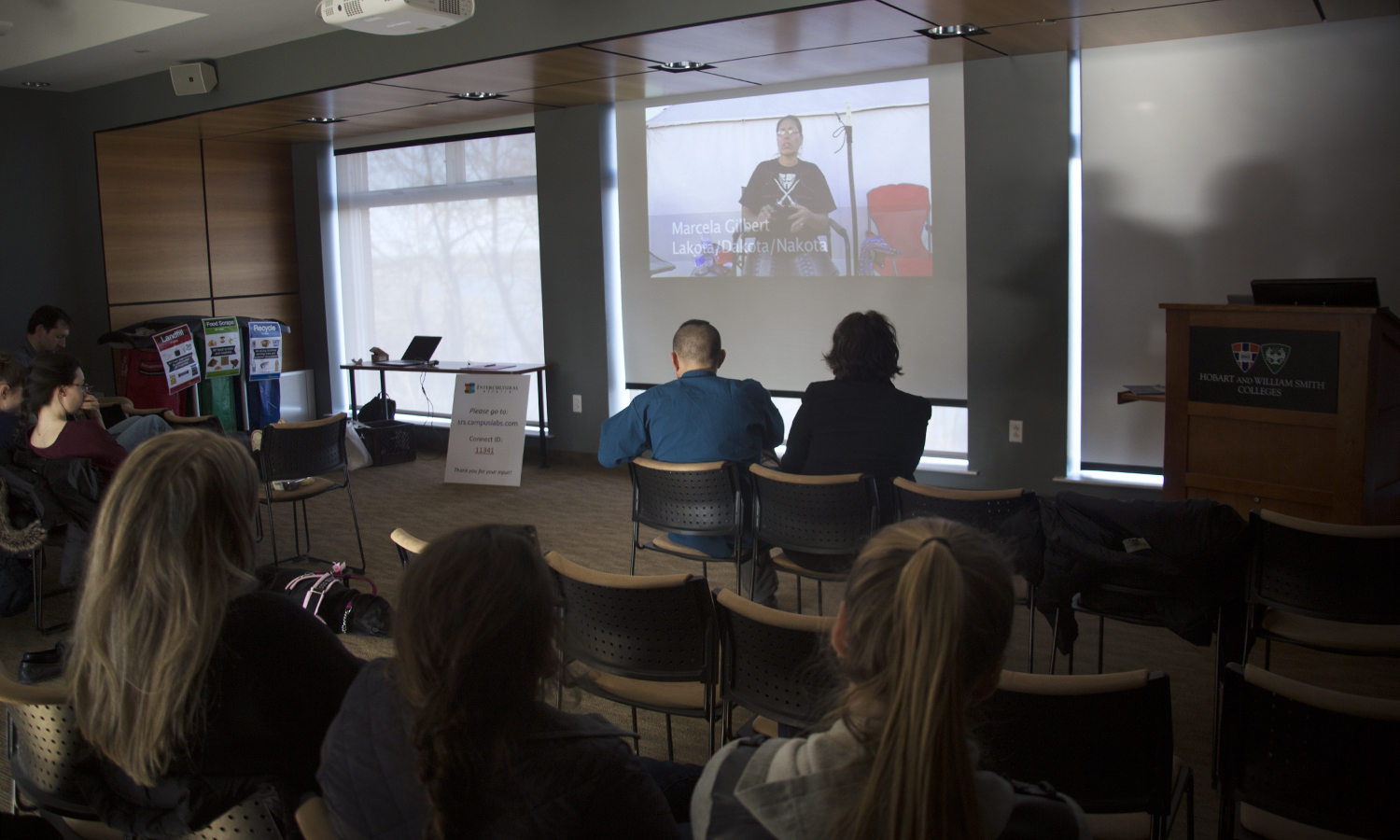 Xtudents watch a screening of <i>Denying Access: NoDAPL to NoNAPL</i>
