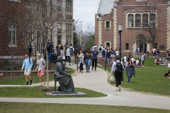 Students walk to class on Wednesday afternoon.