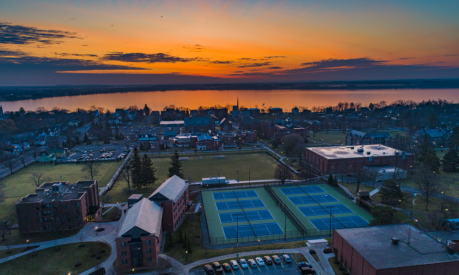 Campus Sunrise Drone