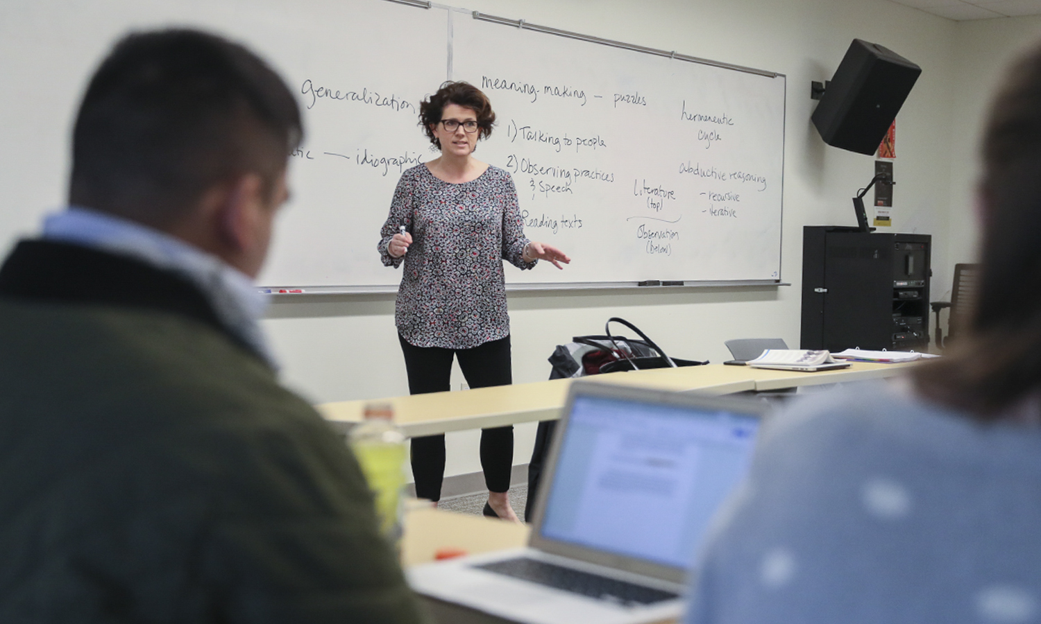 "Associate Professor of Political Science Stacey Philbrick Yadav discusses ethnographic and interpretive approaches in political science in ""Qualitative and Interpretive Research Methods."""