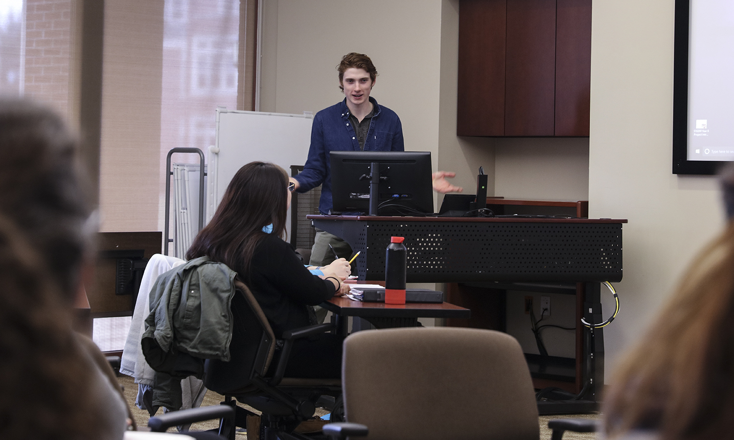 "Russel Payne '21 presents his digital story/essay titled, ""1918:  Lives of Consequence,"" which focused on the WWI Student Army Training Corps takeover of Hobart College in 1918 and Hobart Arthur Coxe, who did not survive the war."