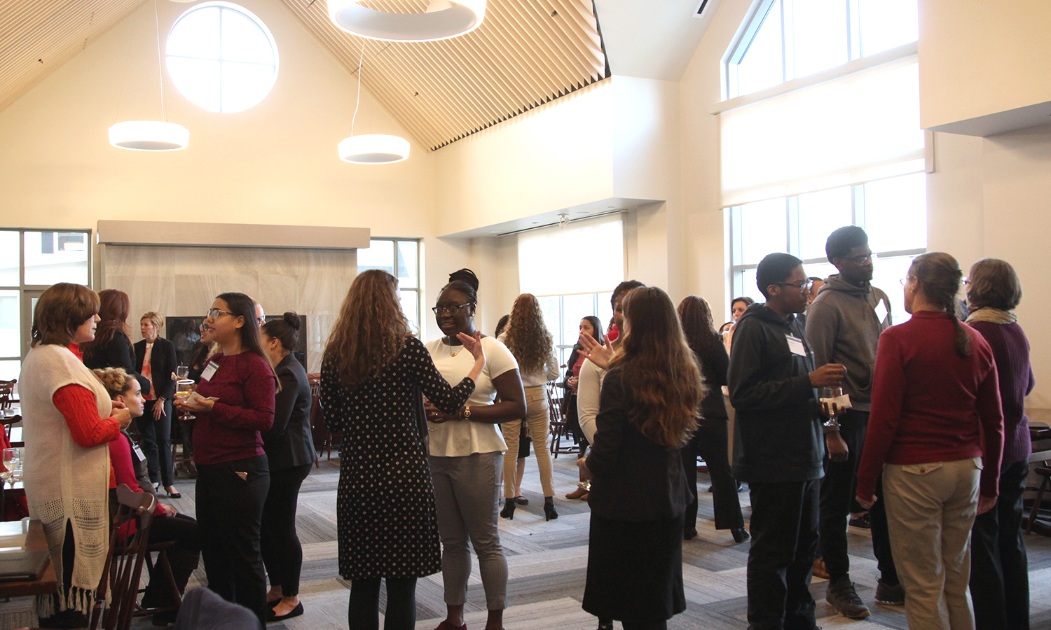 Students practice networking strategies during prepartion for the Multicultural Career and Networking Conference on X.