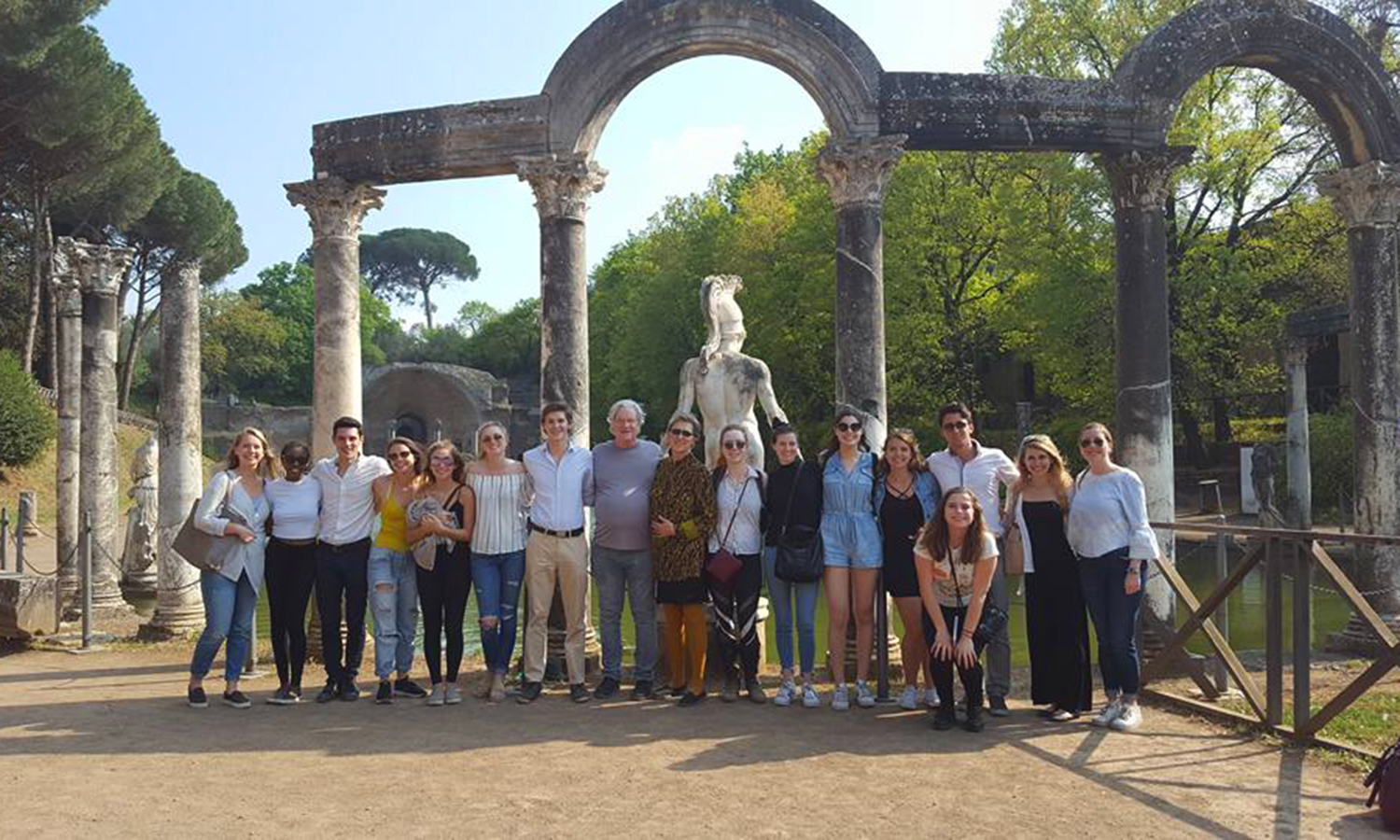Rome Italy Abroad Studies: Picture of Group April 8, 2017 Tivoli Gardens