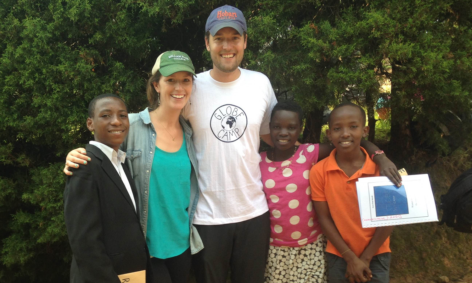 Serving in Rwanda as TEFL Peace Corps Volunteers, Nicolas Walker H'13 and Anna Dorman '14 helped facilitate a health and empowerment camp for secondary students in the Western Province.