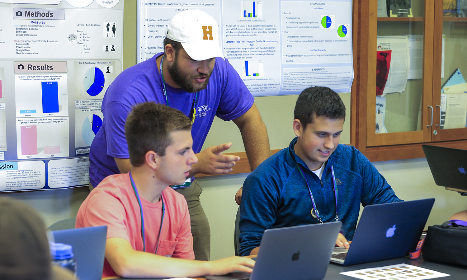 Advising and Registration. Orientation Mentor Ben Rudnick '22 works with first years Ryan Catlin '23 and Owen Killy '23