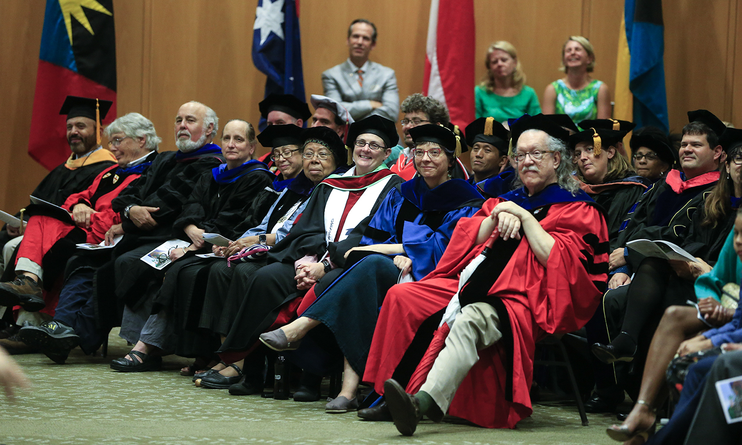 Members of the faculty watch Convocation 2018.